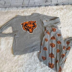 3/$15 NFL Chicago Bears 2pc pajama set sz M 5/6